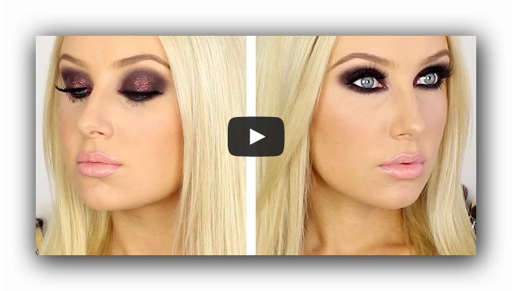 New Year's eve makeup tutorial video